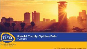 nairobi opinion polls